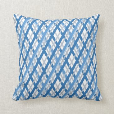 Beach Themed Blue & White Striped Decorative Accent Pillow