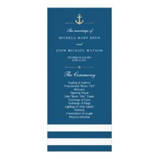 Blue White Striped Nautical Program Rack Cards