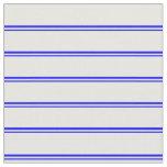 [ Thumbnail: Blue & White Striped Pattern Fabric ]