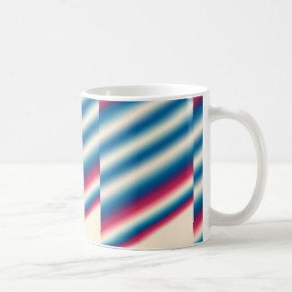 Blue White Stripes |: add text or image Coffee Mug