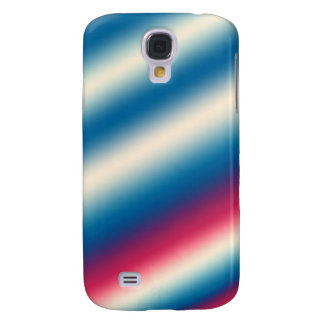 Blue White Stripes |: add text or image Samsung Galaxy S4 Case