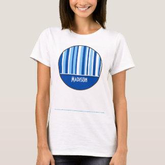 Blue & White Stripes; Cute T-Shirt