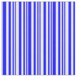 [ Thumbnail: Blue & White Stripes/Lines Pattern Fabric ]