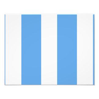 blue white stripes photo print