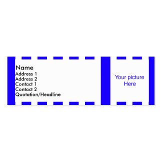 blue & white stripes | profile card Double-Sided mini business cards (Pack of 20)