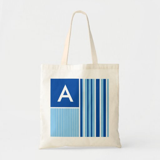Blue & White Stripes; Striped Bag
