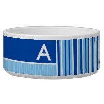 Blue & White Stripes; Striped Bowl