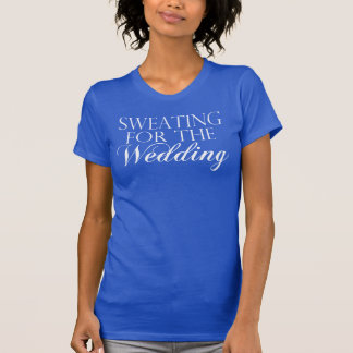 Blue & White Sweating For The Wedding. Singlet T-Shirt