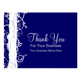 Blue & White Swirls :: Business Postcard Template