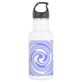 Blue, White Swirls Stainless Steel Water Bottle