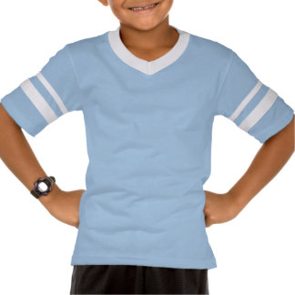 Blue white T-shirt with football - new generation