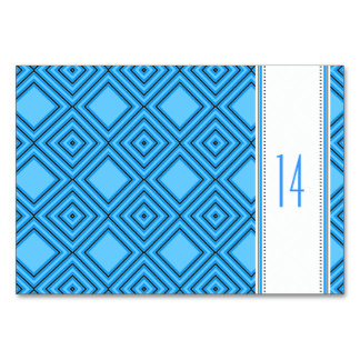 Blue white Tablecards Card