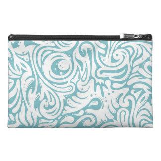 Blue White Tatto Swirl Scroll Pattern Travel Accessories Bag