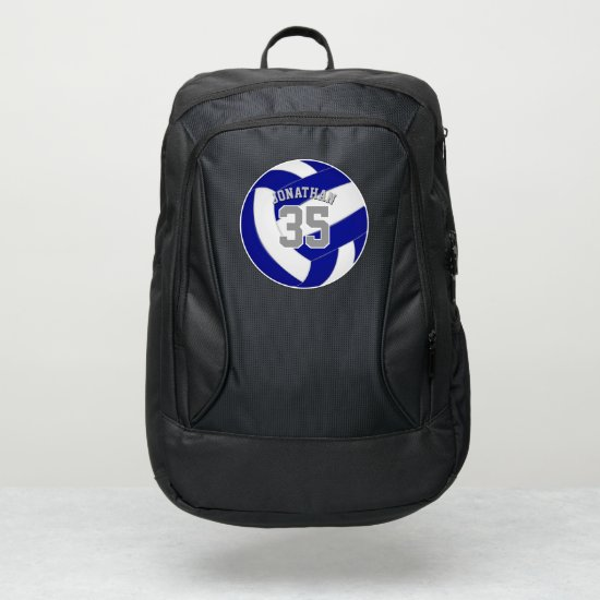 blue white team colors boys girls volleyball port authority® backpack