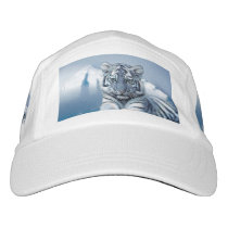 Blue White Tiger Headsweats Hat