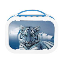 Blue White Tiger Lunch Box