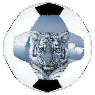 Blue White Tiger Soccer Ball