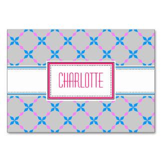 Blue white Tischkarten Card