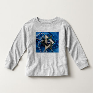 Blue & white toddler t-shirt