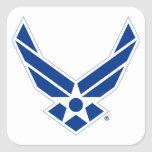 Blue & White United States Air Force Logo Square Sticker