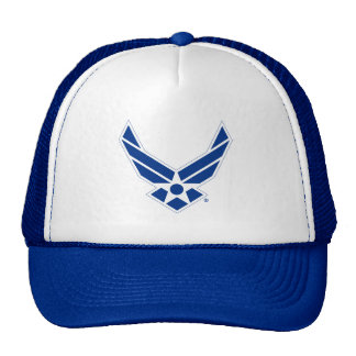 Blue & White United States Air Force Logo Trucker Hat