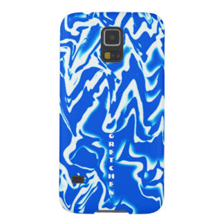 Blue & White Veining Galaxy S5 case for Gretchen