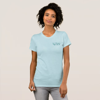 Blue White Vintage Shop Business Logo Monograms T-Shirt