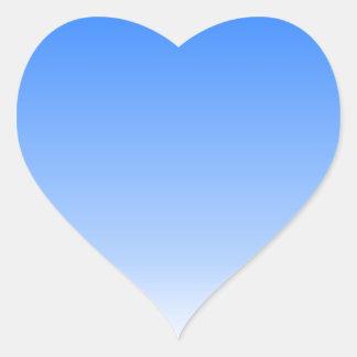blue white water background heart sticker