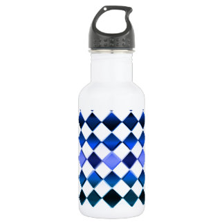 Blue White Water Bottle