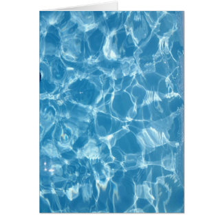Blue White Water Top  Ripples Card