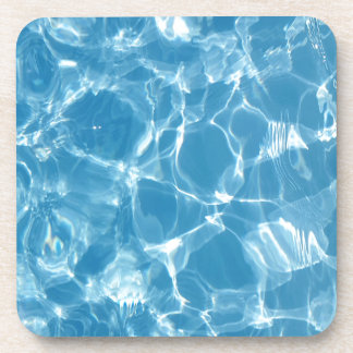 Blue White Water Top  Ripples Coaster