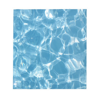 Blue White Water Top  Ripples Notepad