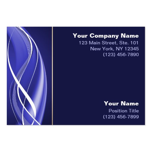 Blue White Wave Business Card Template