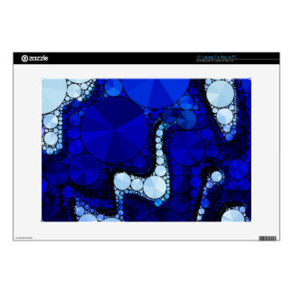 Blue White Wavy Abstract Skin For Laptop