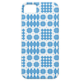 Blue White Welsh Tapestry Pattern iPhone 5/5s Case