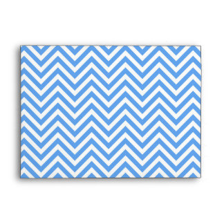 Blue & White Zigzag Abstract Art Pattern Envelope