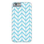 Blue White Zigzag Chevron Pattern iPhone 6 Case