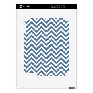 Blue & White Zigzag Pattern Skins For iPad 2
