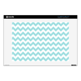 "Blue White Zigzag Stripes Chevron Pattern 13"" Laptop Decal"