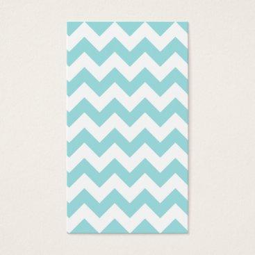 Beach Themed Blue White Zigzag Stripes Chevron Pattern Business Card
