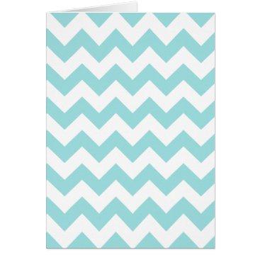 Beach Themed Blue White Zigzag Stripes Chevron Pattern Card
