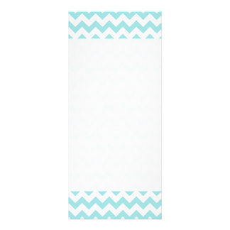 Blue White Zigzag Stripes Chevron Pattern Rack Card