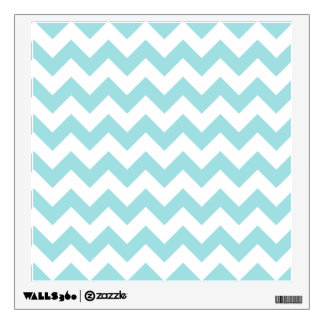 Blue White Zigzag Stripes Chevron Pattern Wall Decal