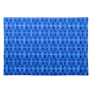 Blue wicker graphic design placemat