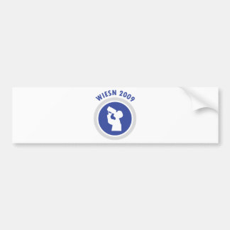 blue wiesn 2009 icon bumper sticker