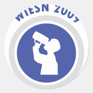 blue wiesn 2009 icon classic round sticker