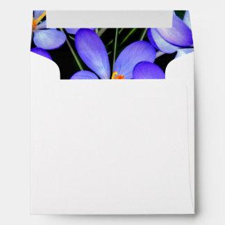 Blue Wild Flowers Envelope