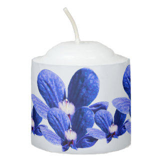 Blue Wild Flowers Votive Candle