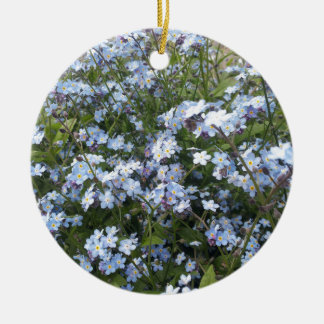 Blue wild Forget-Me-Not flowers Ceramic Ornament