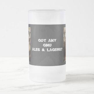 Blue Wildebeest / Gnu funny humoros beer mugs